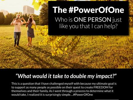 #PowerofOne