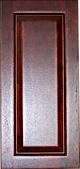 cherry colored wood kitchen cabinet raised panel sample