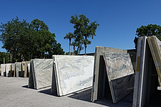Slabs of granite at a stone supplier.  G