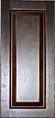 espresso colored wood kitchen cabinet shaker panel sample