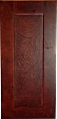 cherry colored wood kitchen cabinet shaker panel sample