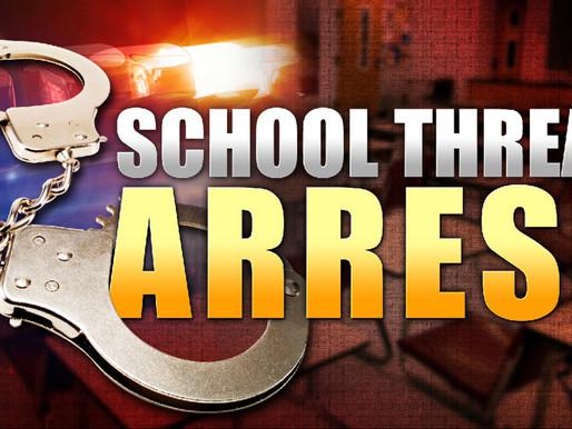 Juvenile arrested for threat