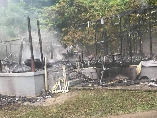 Dorton Branch fire destroys home and belongings of a family of three