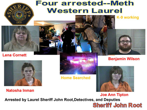 Four arrested with meth by Laurel Sheriff's Office