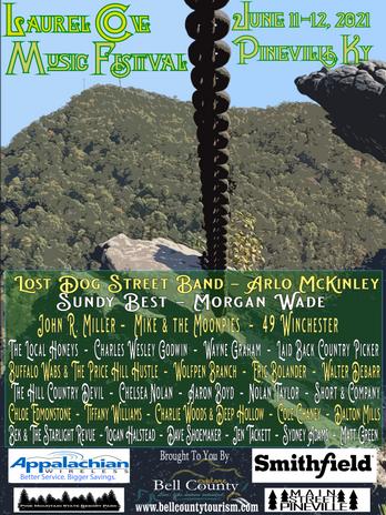 Laurel Cove Music Festival 2021 Ad Poste