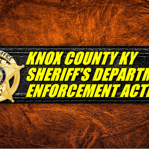 Knox County Sheriff Mike Smith is reporting the following enforcement actions: