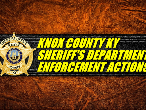 Knox County Ky Sheriff's Enforcement Actions