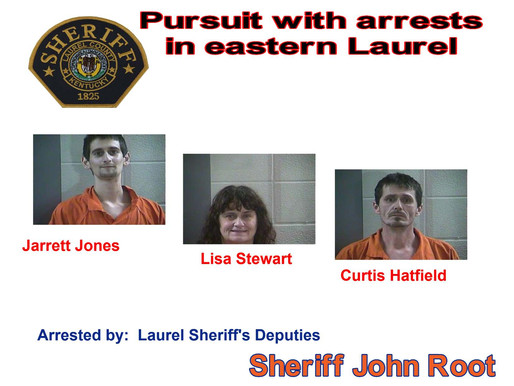 3 arrested by sheriff's deputies after pursuit