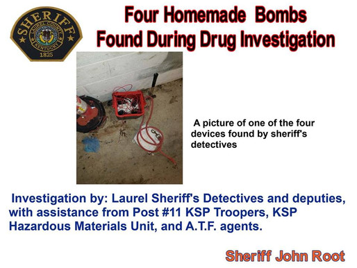 Sheriff's detectives find four homemade bombs