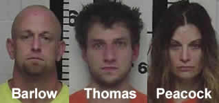 Three arrested in Claiborne County on theft charges