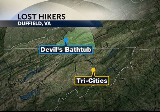 Update: missing hikers found