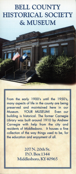 Bell Historical Brochure Front