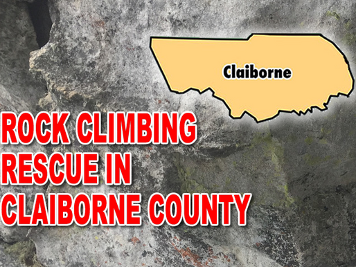 Claiborne man rescued after rock climbing injury