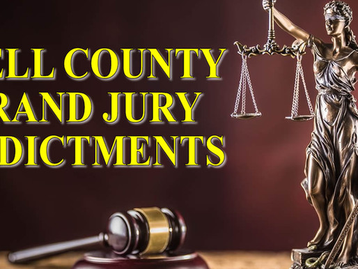 Recent Bell County Grand Jury indictments