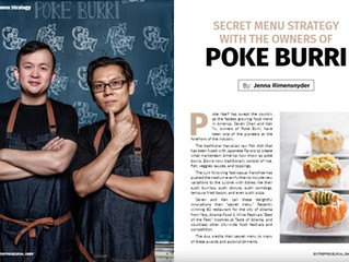 Poke Burri Founders in Entrepreneurial Chef Magazine