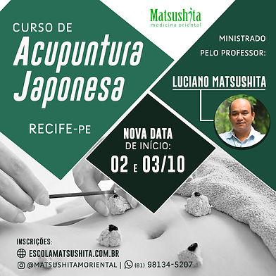 Acupuntura Japonesa Recife - nova data 2