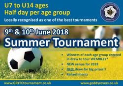2018 GRYFC Summer Tournament - Flyer front