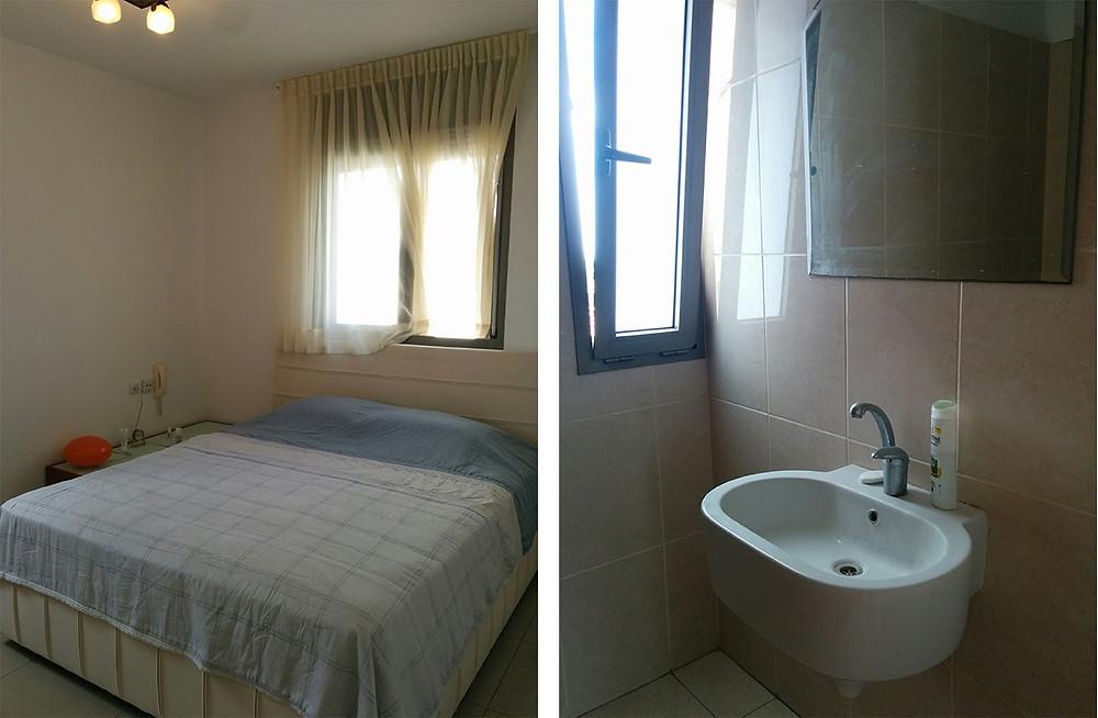 חדרי השינה והרחצה לפני השיפוץ