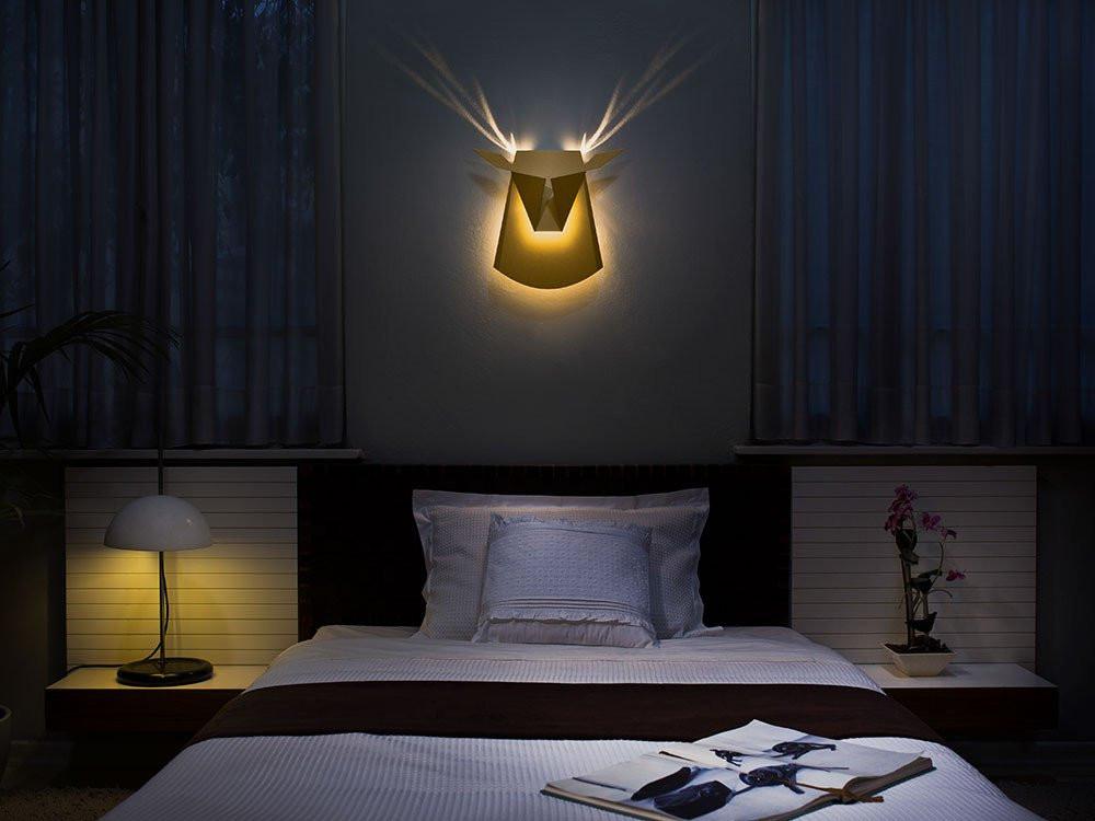 Popup Lighting deer head