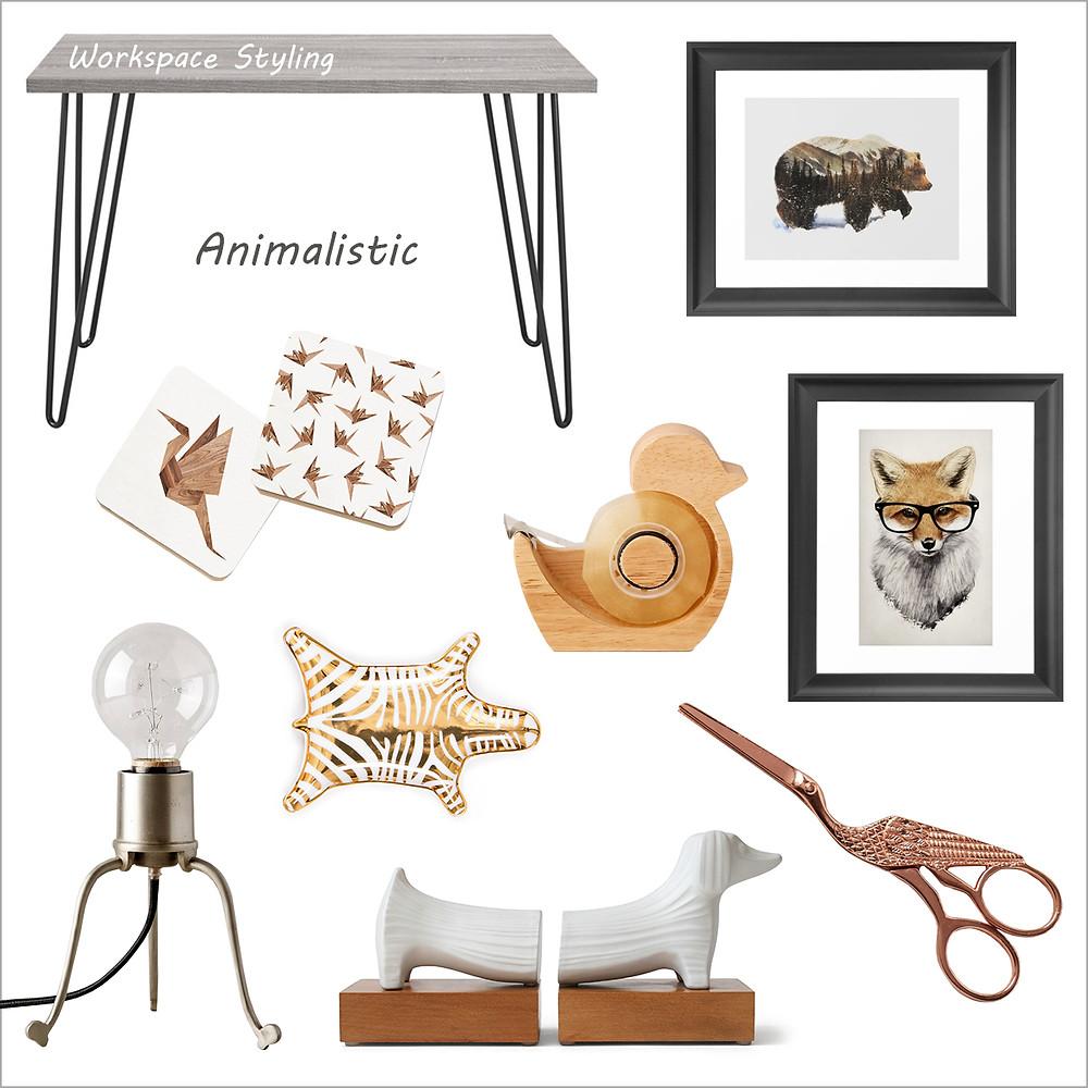 עיצוב חדר עבודה בהשראת בעלי חיים