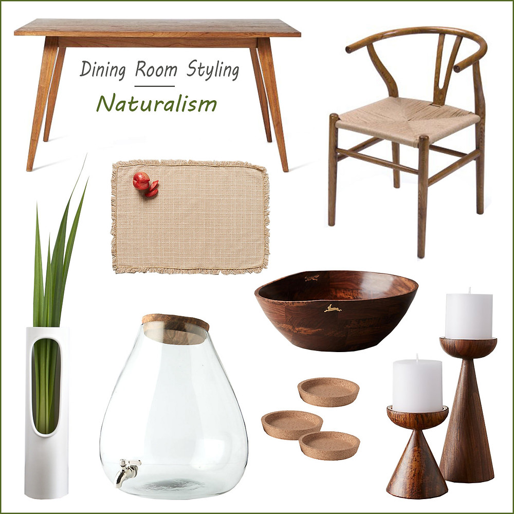 Dining room styling - naturalism