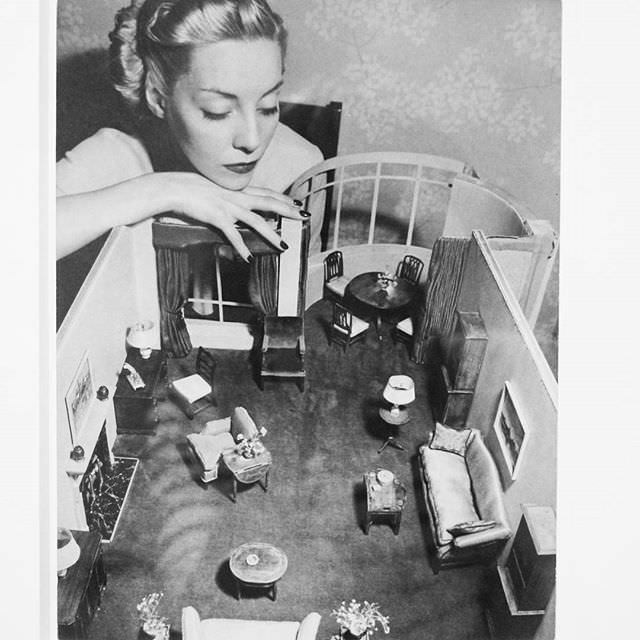 Model with Room Designed by Grace Meyercord, André Kertész