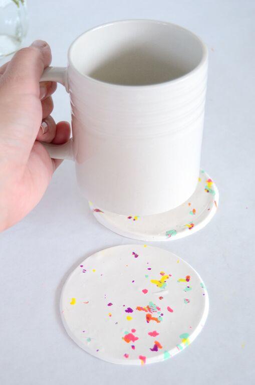 DIY תחתיות לכוסות