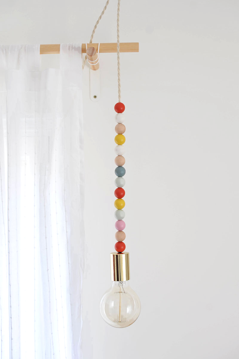 DIY גוף תאורה עם חרוזים