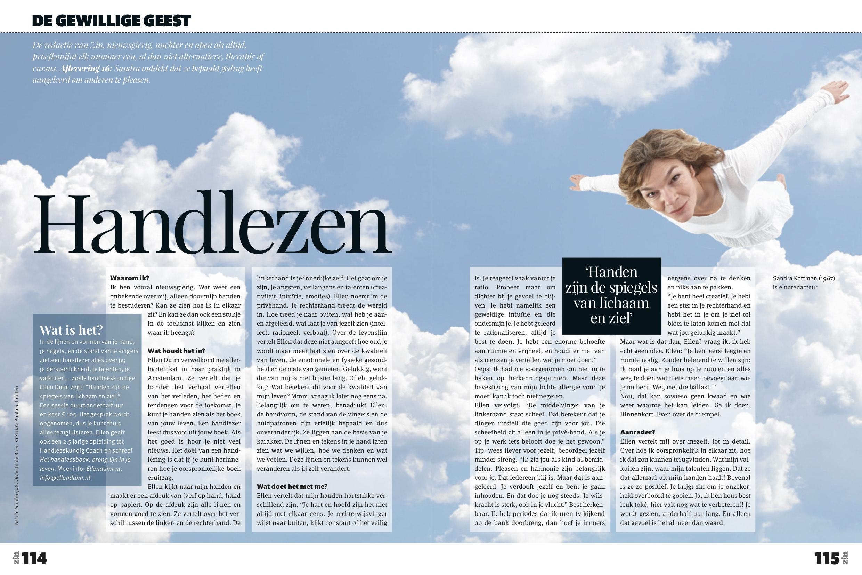 Zin Magazine Gewillige geest Handlezen 114-115