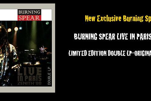 "Burning Spear Live in Paris Zenith ""88"" Vinyl"
