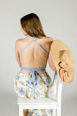 Wrap Shirt and Flounce Skirt