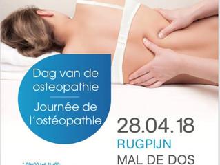 Journée de l'ostéopathie 28/04/2018