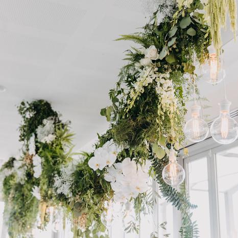 Bridal Table Overhead Installation