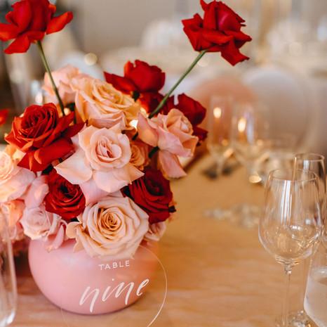 Ada & Jason Wedding Table Florals