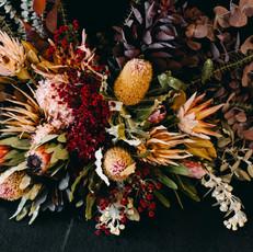 Native Floral Media Wall
