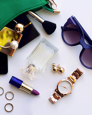 Top view accessories for woman. Stylish