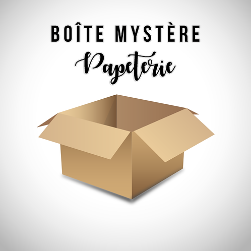 Boîte mystère PAPETERIE