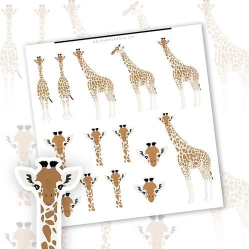 Girafes || 14 autocollants | #79