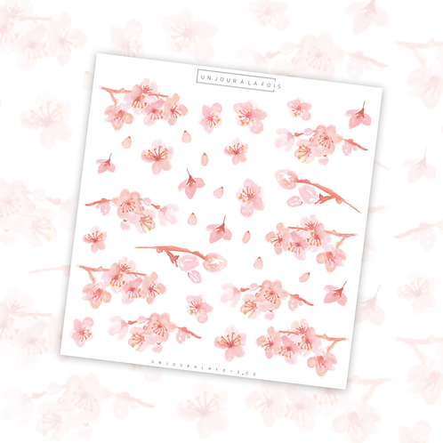 Cerisiers japonais    33 autocollants   #44