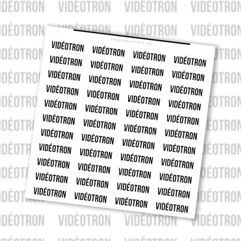 Vidéotron || 44 autocollants
