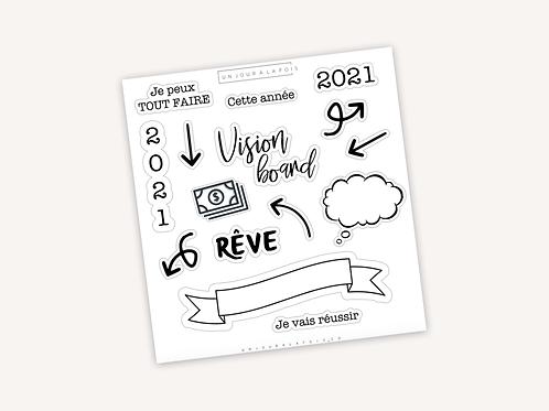 Vision Board 2021 || 15 autocollant