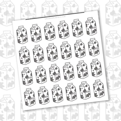 Cartons de lait || 24 autocollants | #82