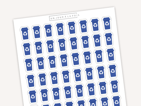 Recyclage || 48 autocollants