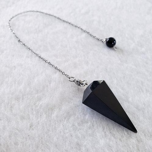 Pendule || Obsidienne noire