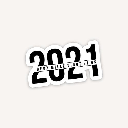 2021 || 1 autocollant