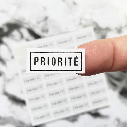 Priorité    32 autocollants    #15