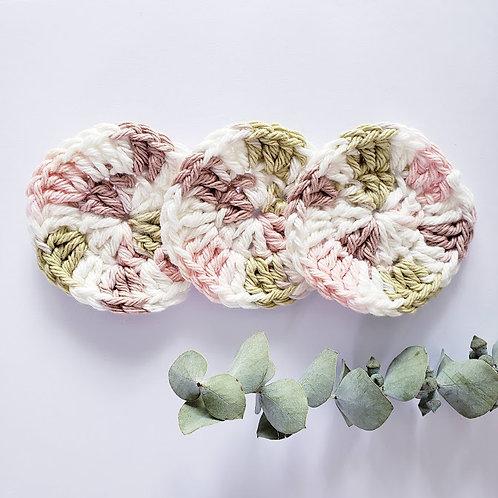 Tampons démaquillants - Tricolore