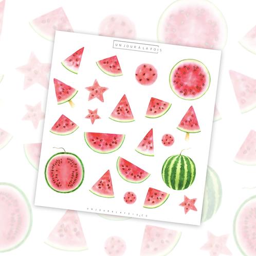 Melons d'eau || 21 autocollants | #46