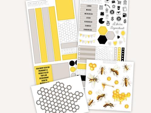 Kit abeilles deluxe || 4 feuilles