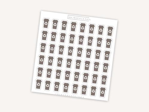 Compost || 48 autocollants